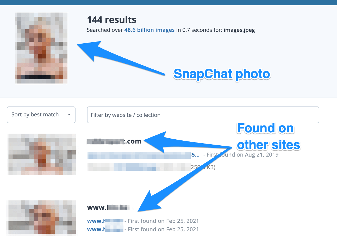 Identifying snapchat user by picture